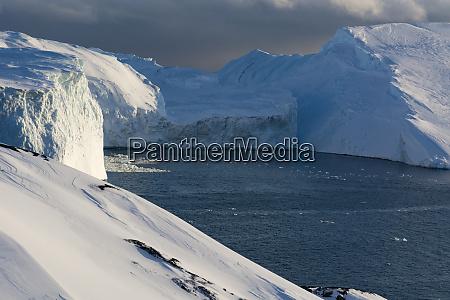 view of ilulissat icefjord unesco world