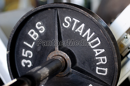 close up of gym weightlifting equipment