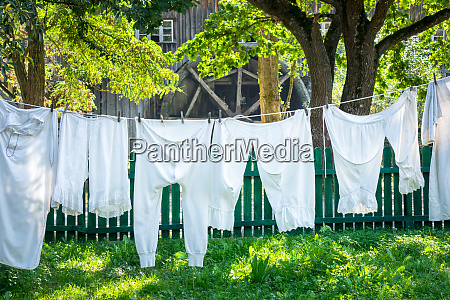 vintage underwear drying in a sunny