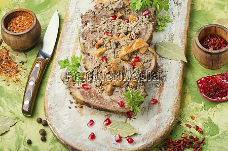 meat festive roll