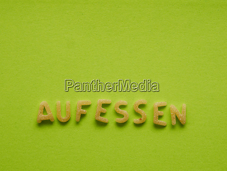 german word eat up on a