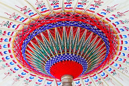 old paper parasol