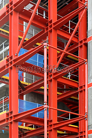 red construction frame