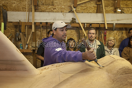 master craftsman and traditional wood carver