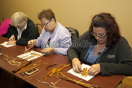 native american tourism specialists participate during