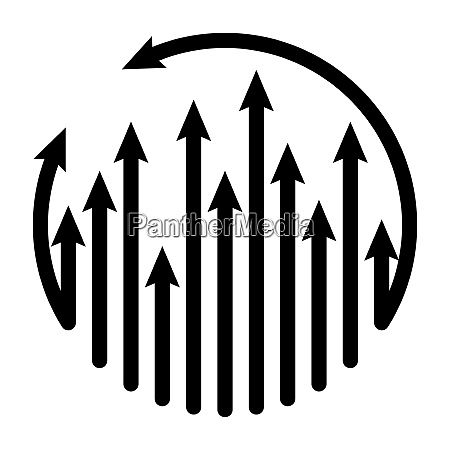arrows ilustration cycle growing up vector