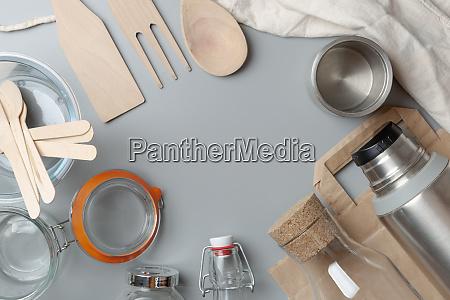 plastic free zero waste concept reusable