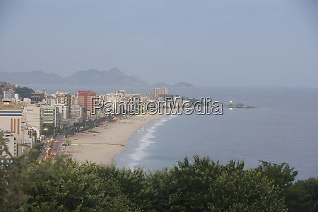 view of ipanema beach and southern