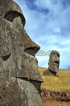 south america chile easter island pensive
