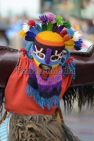 ecuador pichincha quito man doing traditional
