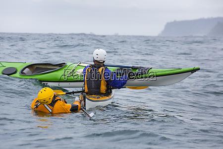 usa washington state sea kayakers practice