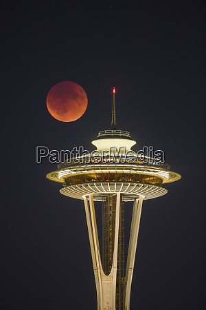 usa washington state blood moon lunar