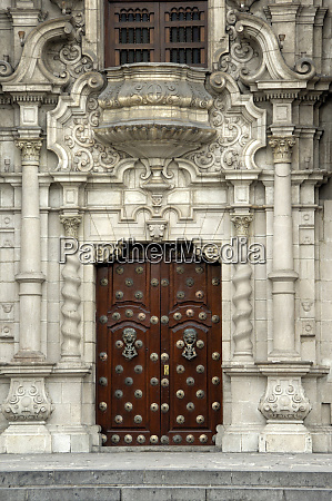 south america peru lima historic plaza