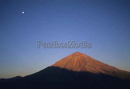peru andes volcan misti with moon