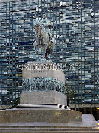 south america uruguay montevideo satatue of