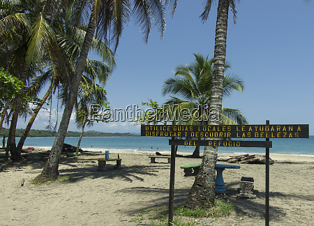 inviting beach in manzanillo wildlife refuge