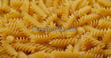 pile of fusilli close up