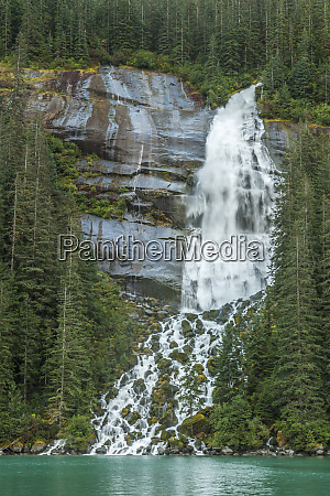usa alaska tongass national forest waterfall