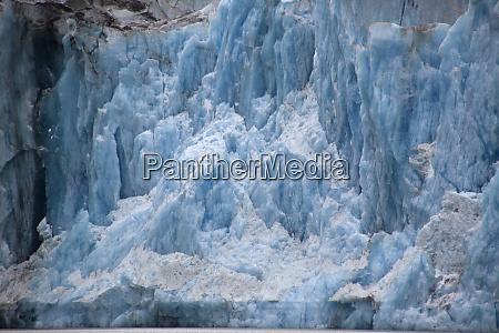 usa alaska inside passage glacier calving