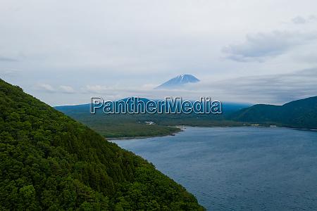 mountain fujisan with cloud in japan