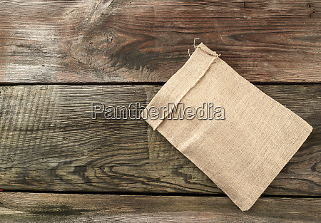 empty canvas gray bag on a