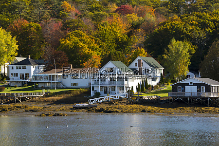 autumn color boothbay harbor maine new
