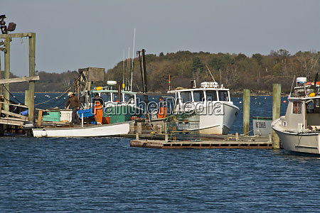 lobster boats lobstermen garrison bay bailey