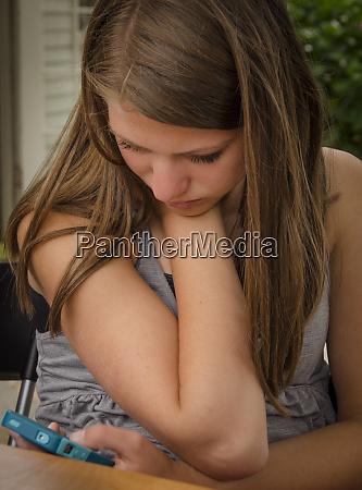 orcas island usa teen girl checking