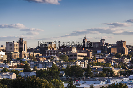 usa maine portland skyline from munjoy