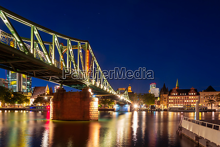 footbridge accross the main river in