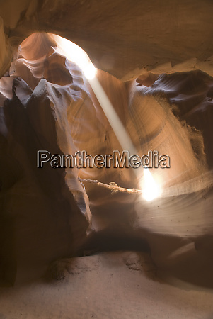 the corkscrew in upper antelope canyon