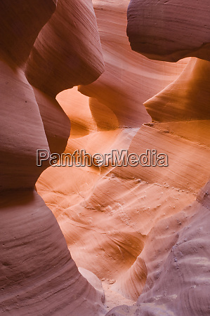 abstract detail of lower antelope canyon