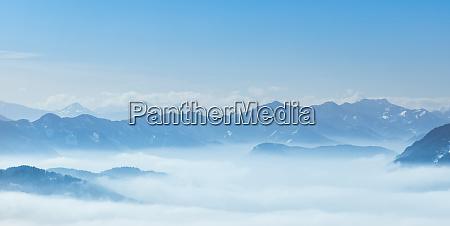 wintr scene amazing mountain view