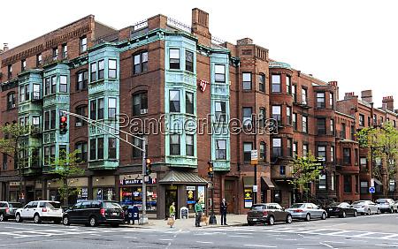 boston massachusetts usa historic downtown residential