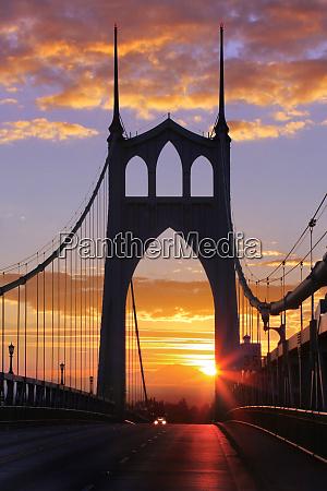 usa oregon portland st johns bridge