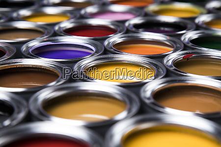 paint cans palette creativity concept