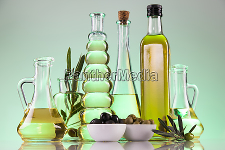 cooking oils in bottle background
