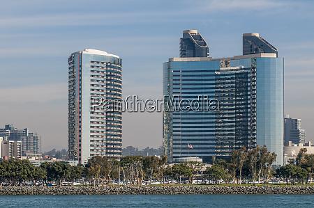 san diego skyline and harbor san