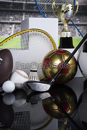 podium winner trophy sport equipment and