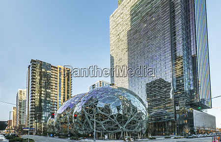 usa washington state seattle amazon spheres