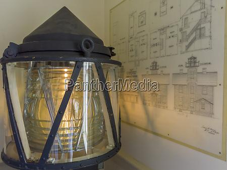 usa oregon newport display inside lighthouse