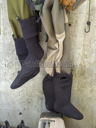 usa oregon nehalem fishing gear hanging