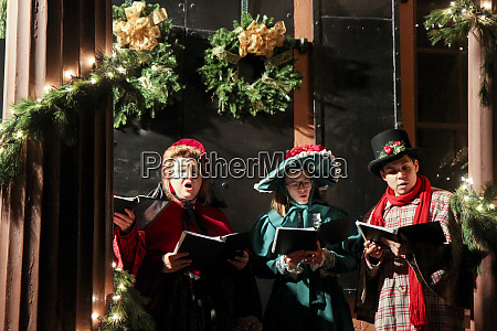 carolers during the annual christmas by