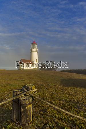oregons oldest lighthouse at sunrise at