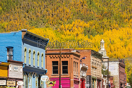 historic downtown and fall color silverton