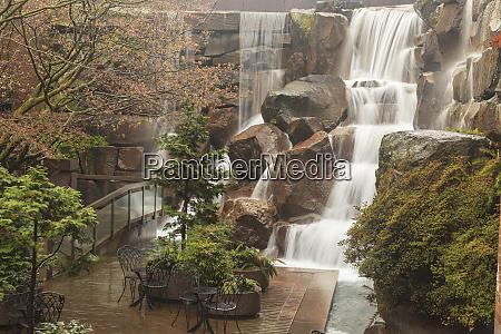 waterfall garden park pioneer square seattle