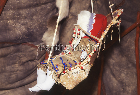 traditional athabaskan cradleboard swing made from