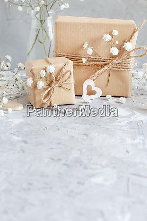 bouquet of small white flowers and