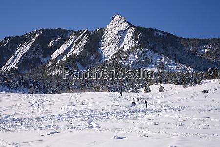 chautauqua park in winter boulder co