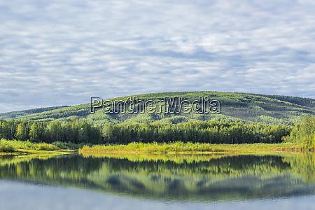 usa alaska olnes pond landscape with